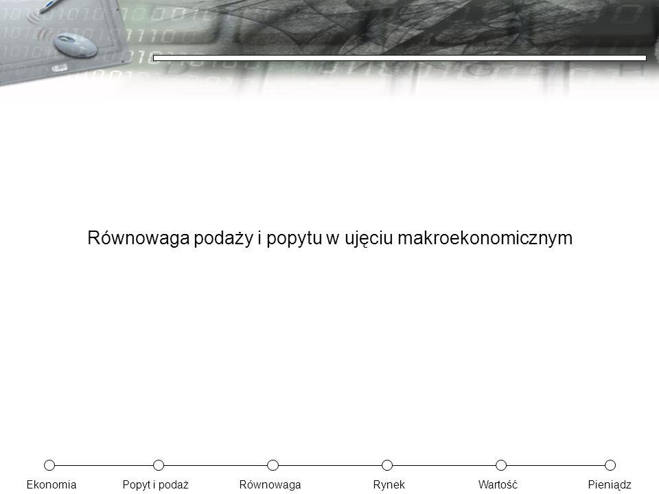 EkonomiaPopyt i podażRównowagaRynekWartośćPieniądz Równowaga podaży i popytu w ujęciu makroekonomicznym