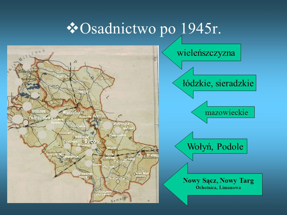  Osadnictwo po 1945r.