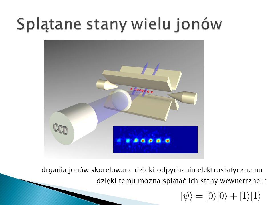 dzięki temu można splątać ich stany wewnętrzne! : drgania jonów skorelowane dzięki odpychaniu elektrostatycznemu