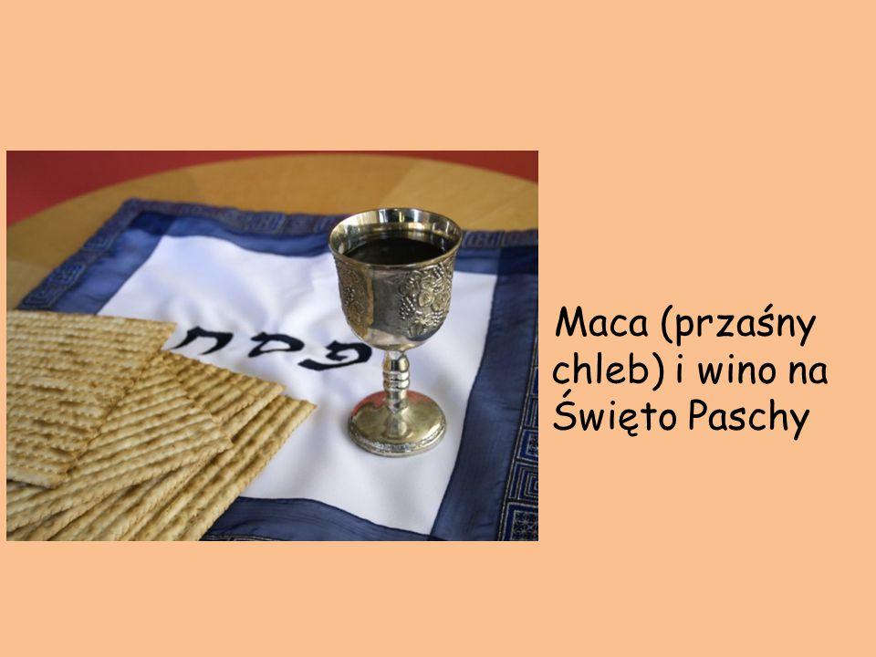 Maca (przaśny chleb) i wino na Święto Paschy