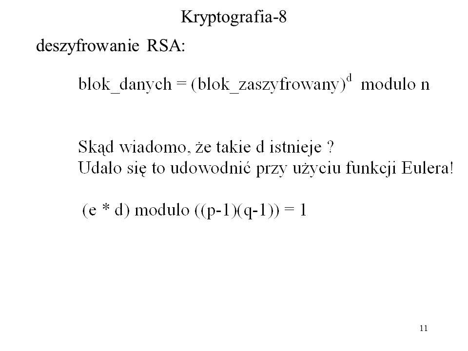 11 Kryptografia-8 deszyfrowanie RSA: