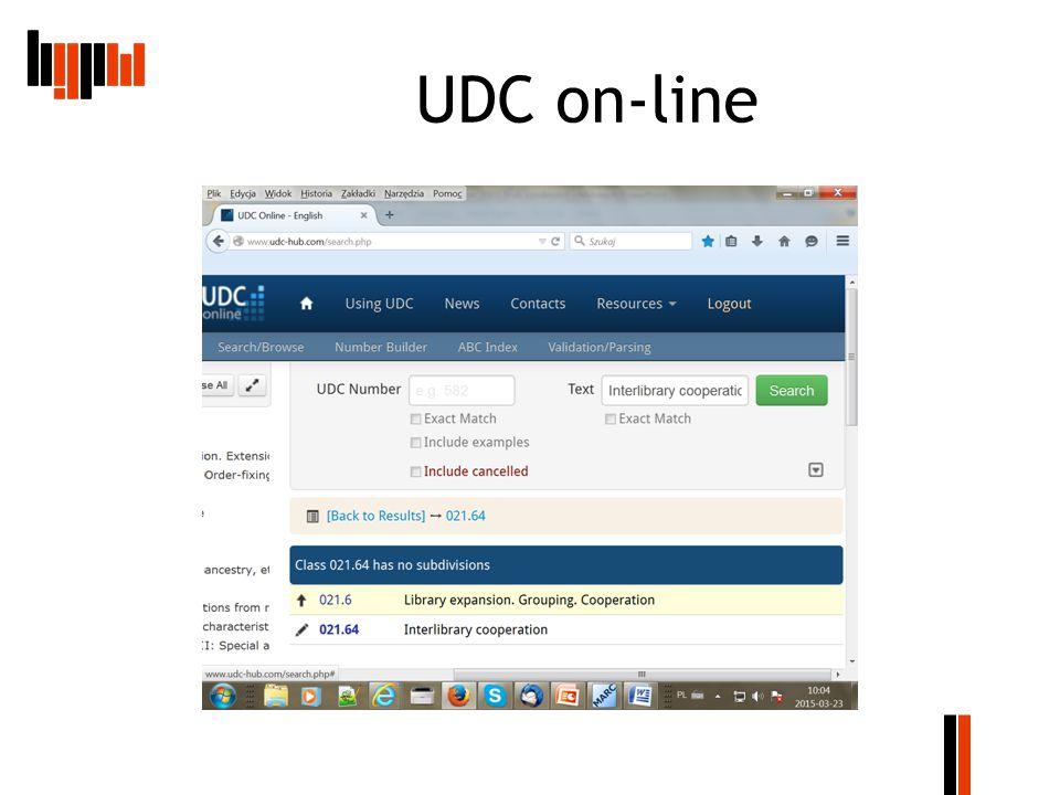 UDC on-line