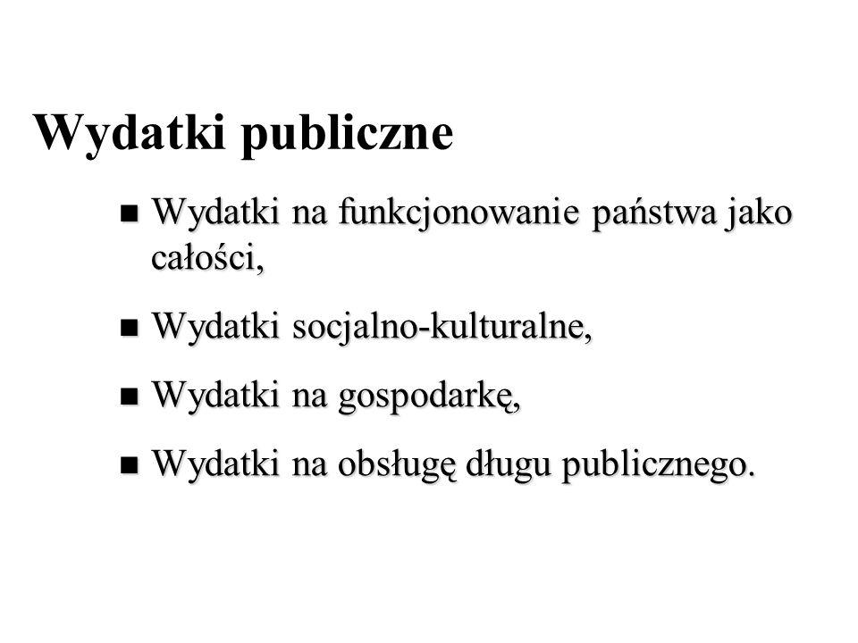 Wydatki publiczne Wydatki na funkcjonowanie państwa jako całości, Wydatki na funkcjonowanie państwa jako całości, Wydatki socjalno-kulturalne, Wydatki