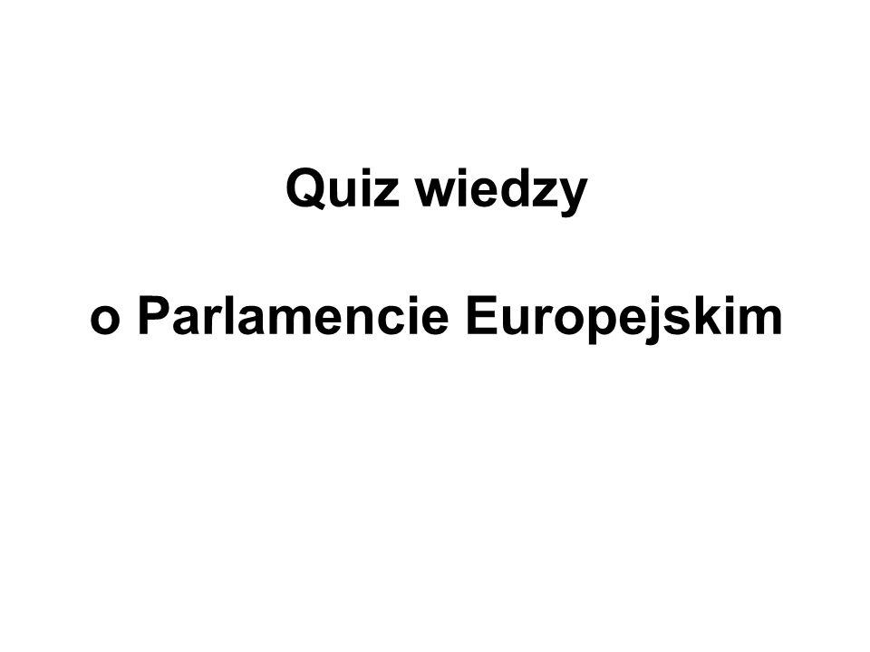 Quiz wiedzy o Parlamencie Europejskim