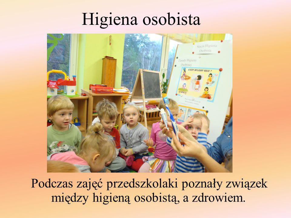 """Dla utrwalenia wiadomości wykorzystano plakat pt. """"Zasady higieny osobistej"""