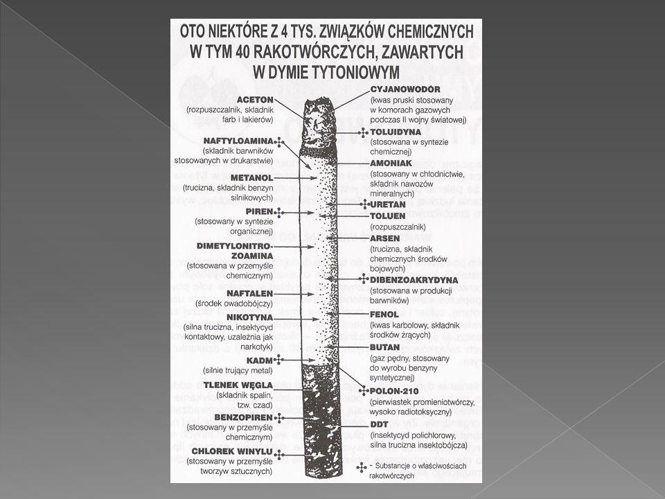  - 9 mln Polaków to nałogowi palacze  - 57 % palaczy to mężczyźni  - 54 % palaczy wypala 11-20 papierosów dziennie, co drugi palacz uważa, że bardzo trudno jest rzucić palenie bez pomocy lekarza lub produktu wspomagającego  ponad 70 % palaczy chce rzucić palenie, a 68 % zrobiłoby to od jutra gdyby wierzyło w powodzenie  - 80 % palaczy uważa, że nie powinno się palić przy dzieciach ale robi to 15 %  - przeciętny palacz rzucał palenie 7 razy  - 90 % palaczy rzuca palenie za pomocą silnej woli bez wsparcia farmakologicznego