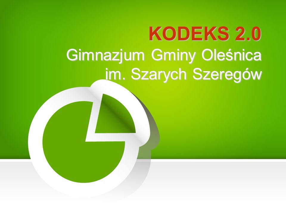 KODEKS 2.0 Gimnazjum Gminy Oleśnica im. Szarych Szeregów