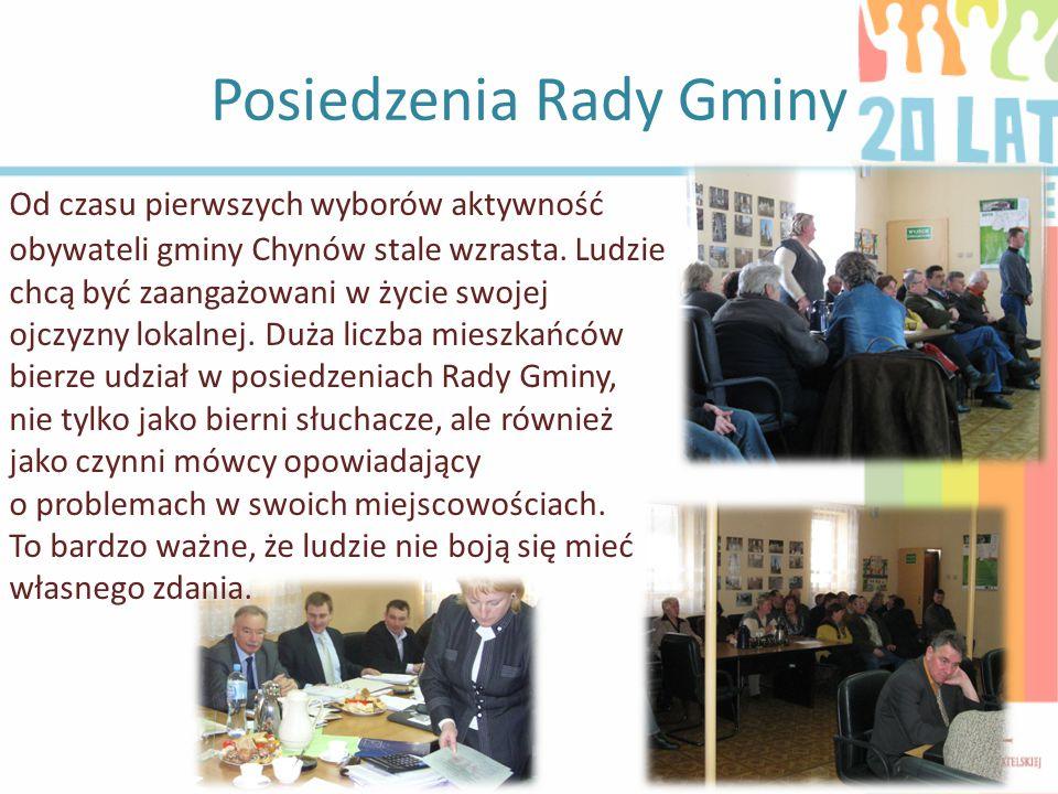 Posiedzenia Rady Gminy Od czasu pierwszych wyborów aktywność obywateli gminy Chynów stale wzrasta.