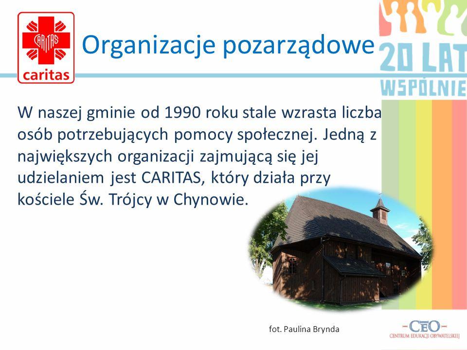 Organizacje pozarządowe W naszej gminie od 1990 roku stale wzrasta liczba osób potrzebujących pomocy społecznej.