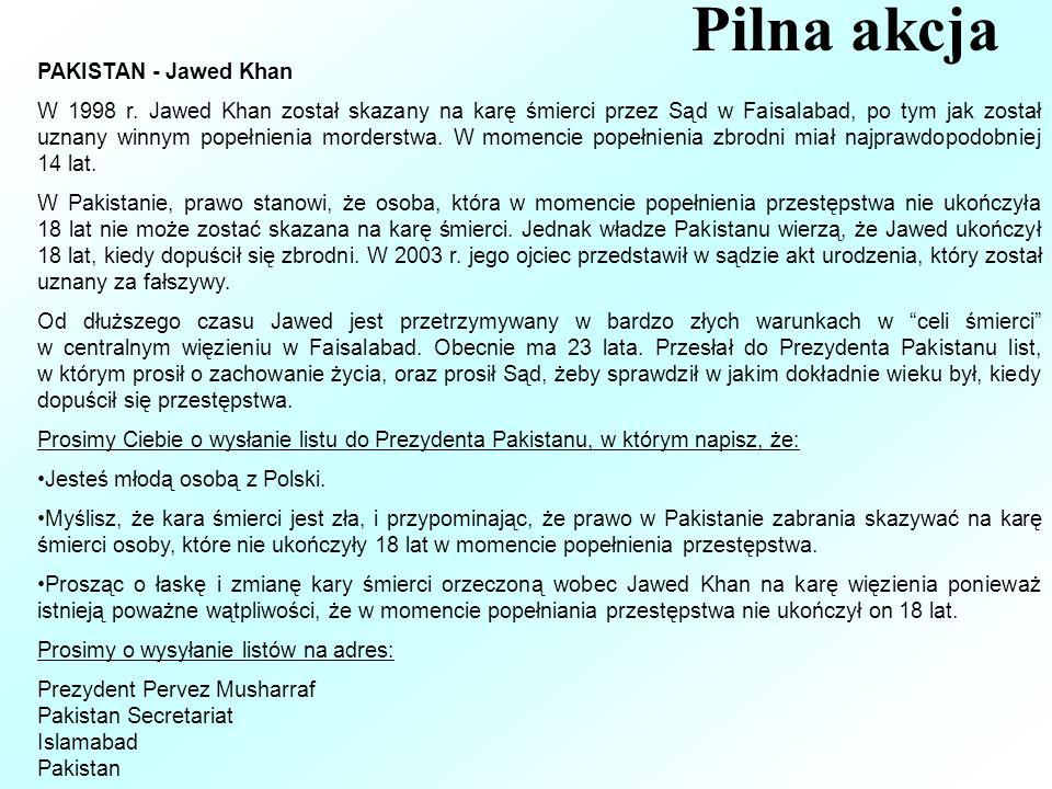 Pilna akcja PAKISTAN - Jawed Khan W 1998 r.