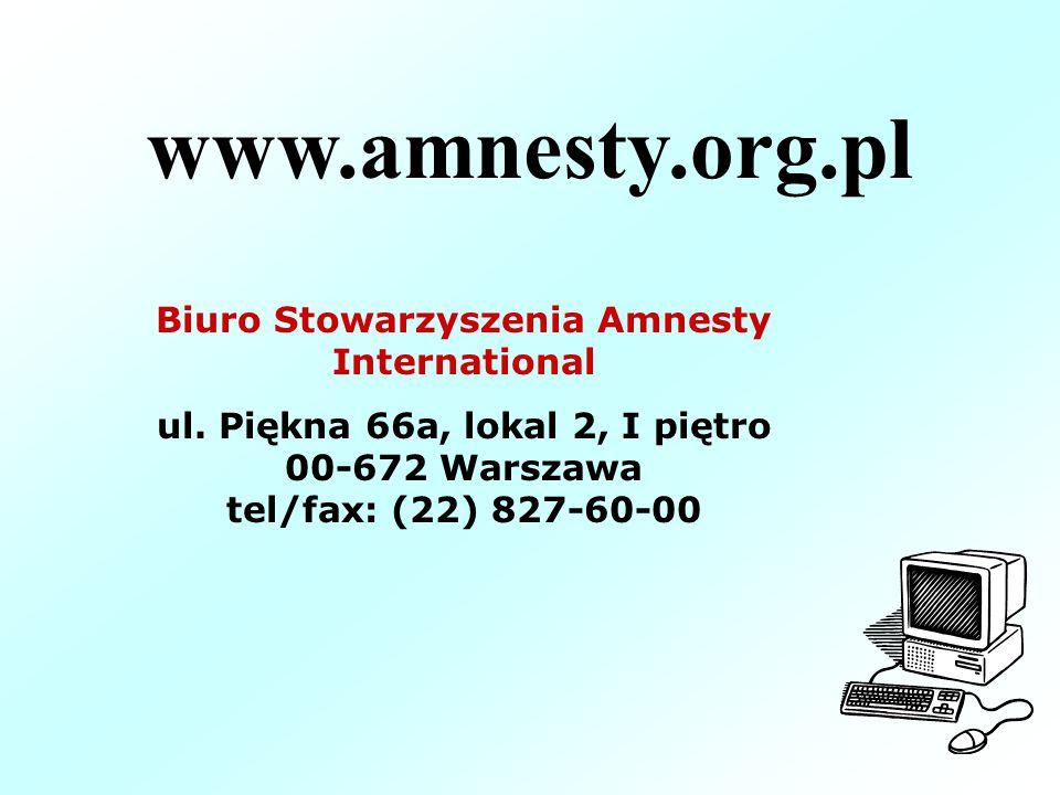 www.amnesty.org.pl Biuro Stowarzyszenia Amnesty International ul.