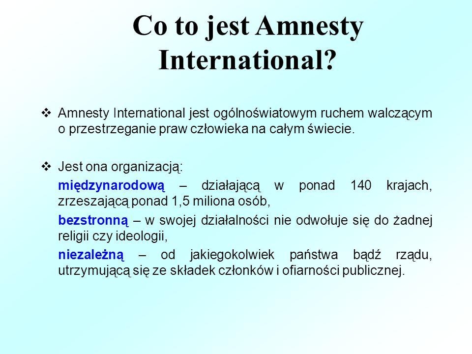 Co to jest Amnesty International.
