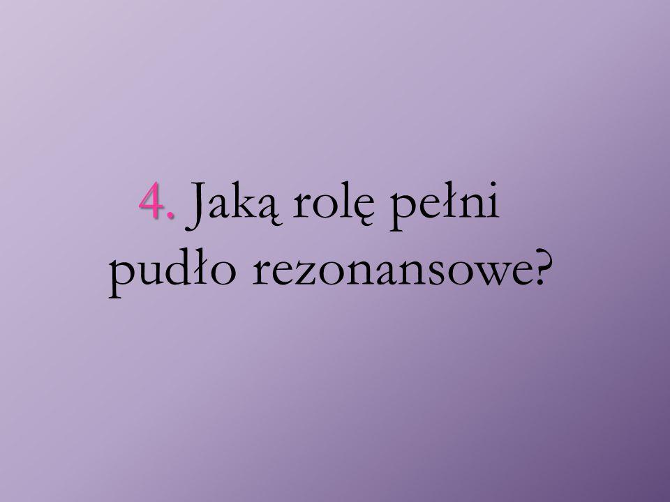4. 4. Jaką rolę pełni pudło rezonansowe?