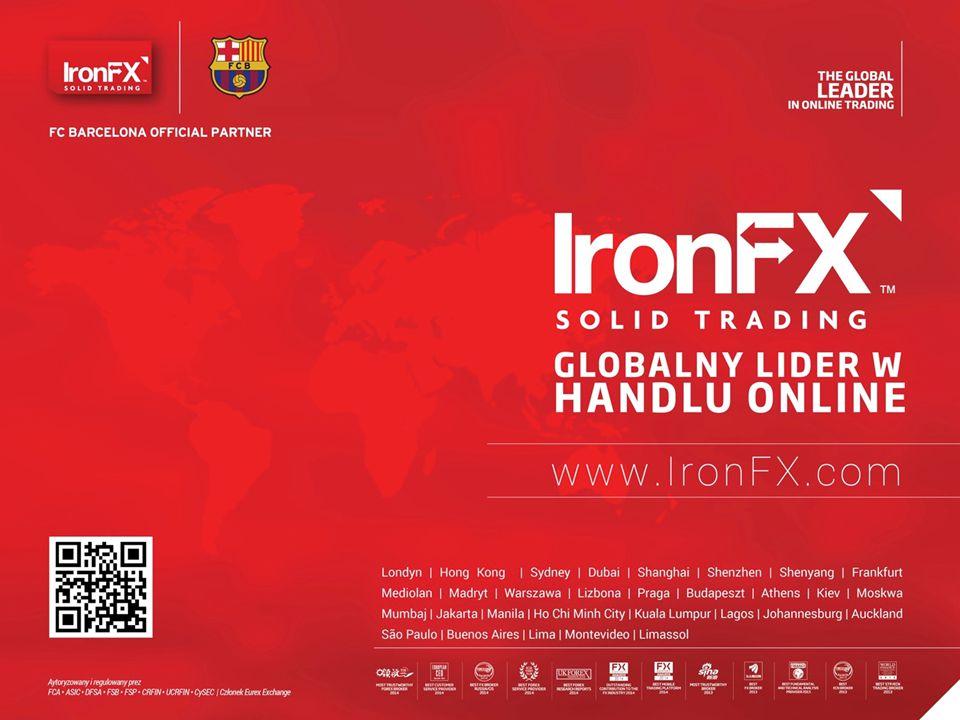 INFORMACJE O FIRMIE IronFX OFERUJE KONTRAKTY CFD NA RYNKU FOREX, METALE SPOT, AKCJE I KONTRAKTY TERMINOWE 2 IronFX jest wielokrotnie nagradzanym światowym liderem w handlu online.