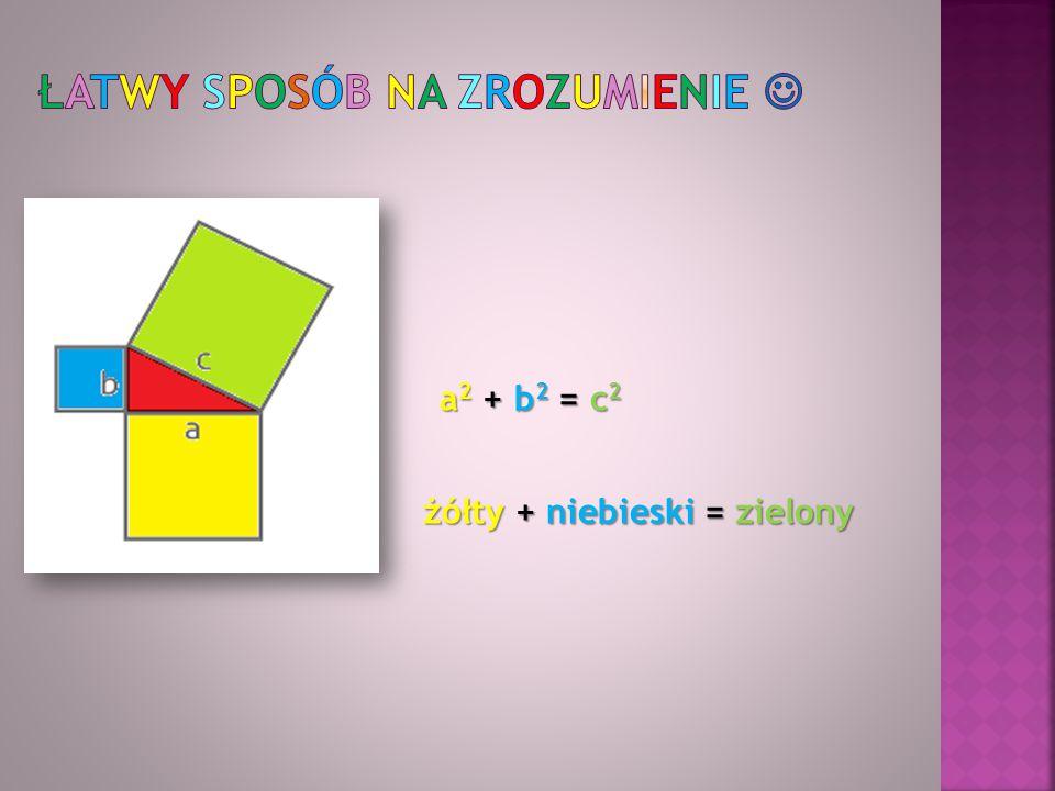 Oblicz długość odcinków oznaczonych literami Sposób rozwiązywania: a 2 + b 2 = c 2 4 2 +3 2 =x 2 16 + 9 = x 2 25 = x 2 √25 = √x 2 5 = x