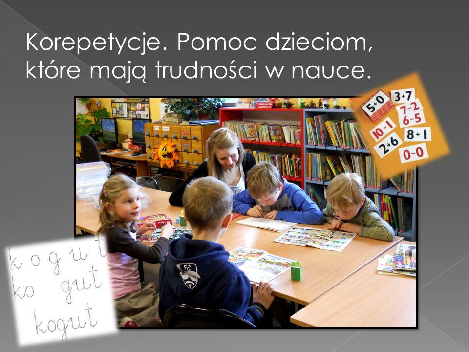 Korepetycje. Pomoc dzieciom, które mają trudności w nauce.