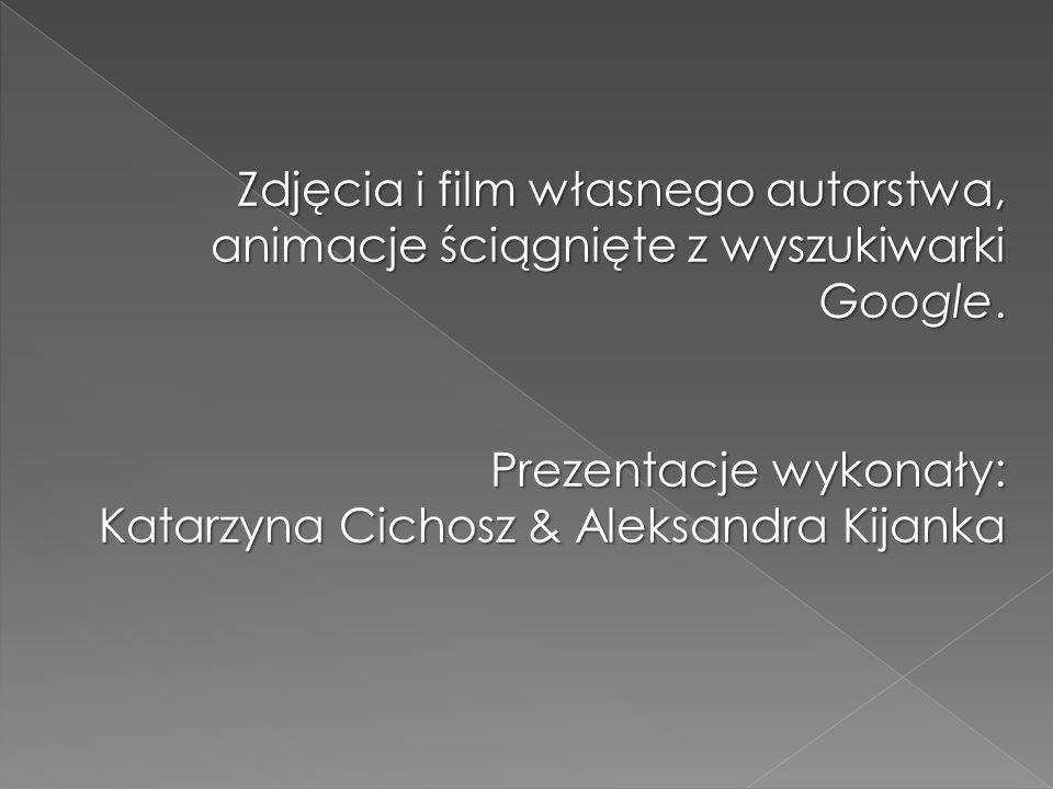 Zdjęcia i film własnego autorstwa, animacje ściągnięte z wyszukiwarki Google. Prezentacje wykonały: Katarzyna Cichosz & Aleksandra Kijanka