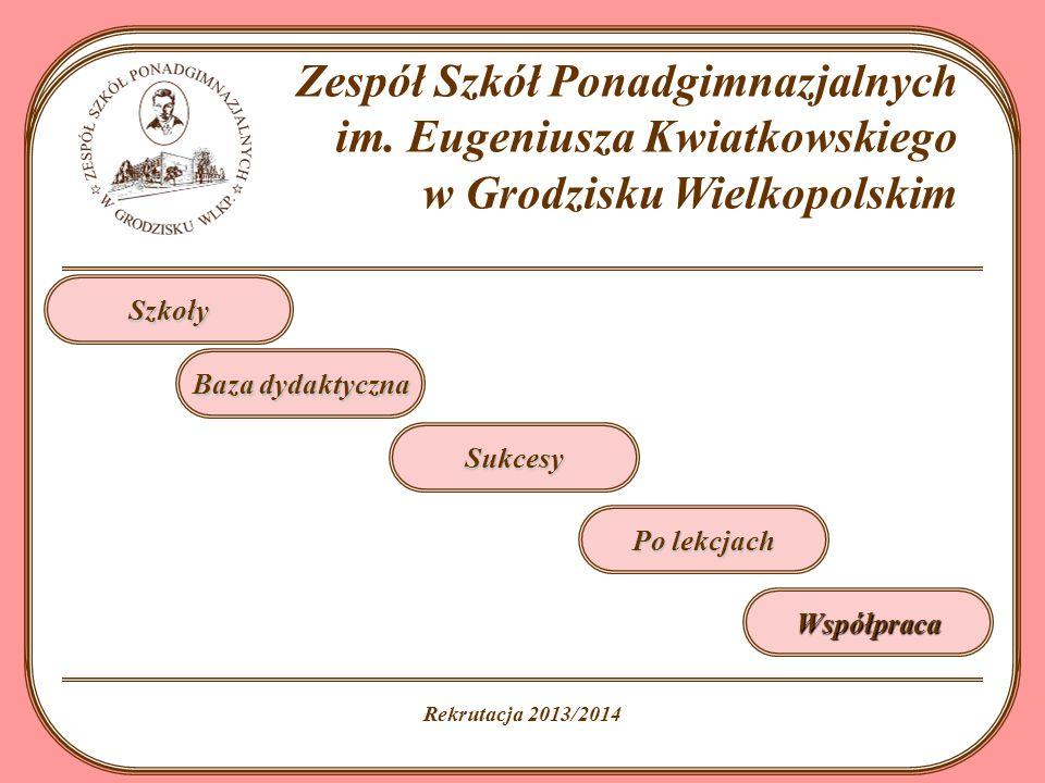 Rok szkolny 2013/2014 Zespół Szkół Ponadgimnazjalnych im.