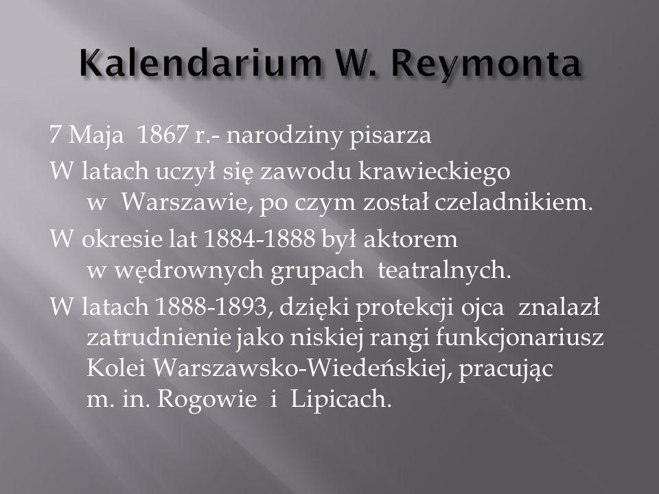 W roku 1890 zmarła matka pisarza.13 lipca 1900 r.