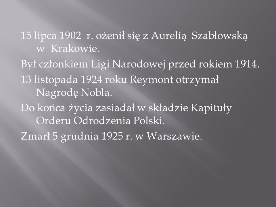 15 lipca 1902 r.ożenił się z Aurelią Szabłowską w Krakowie.