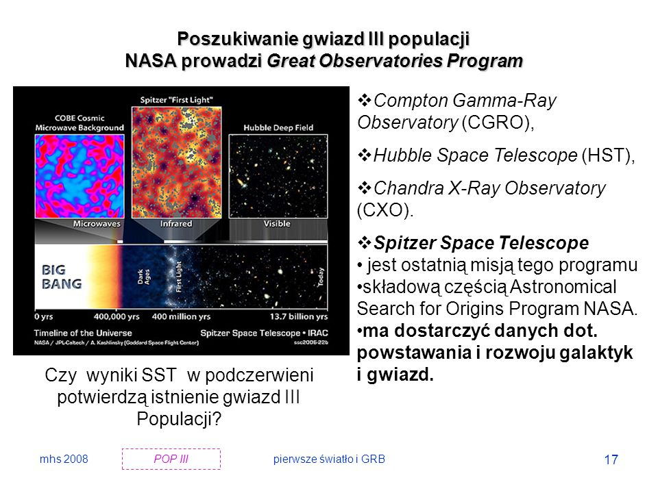 mhs 2008pierwsze światło i GRB 18  An image from NASA s Spitzer Space Telescope of stars and galaxies in the constellation Draco, covering about 50 by 100 million light-years (6 to 12 arcmin).