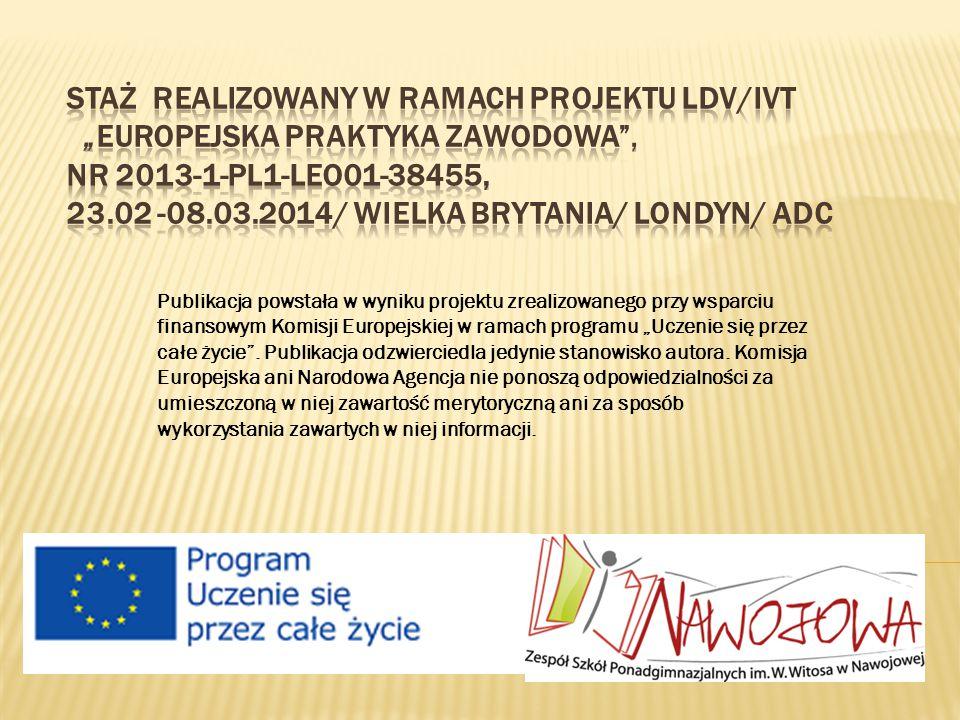"""Publikacja powstała w wyniku projektu zrealizowanego przy wsparciu finansowym Komisji Europejskiej w ramach programu """"Uczenie się przez całe życie ."""