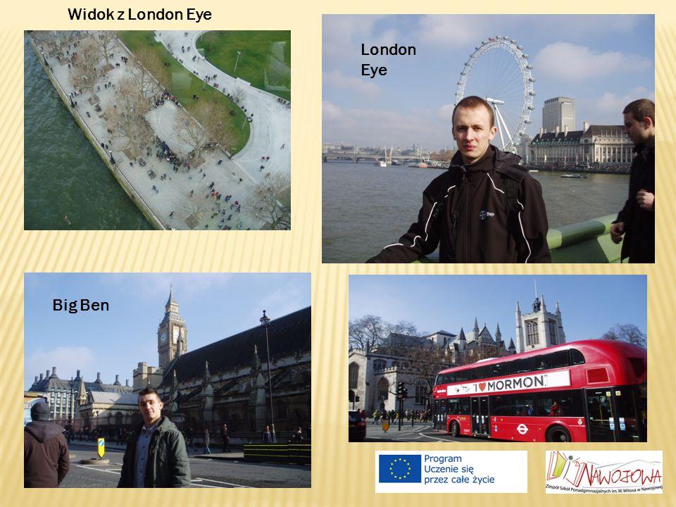 Widok z London Eye London Eye Big Ben