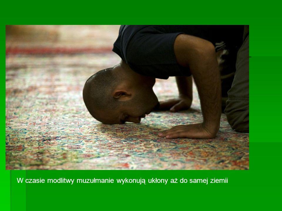 W czasie modlitwy muzułmanie wykonują ukłony aż do samej ziemii