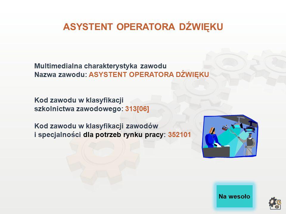 ASYSTENT OPERATORA DŹWIĘKU wersja dla gimnazjów i szkół ponadgimnazjalnych