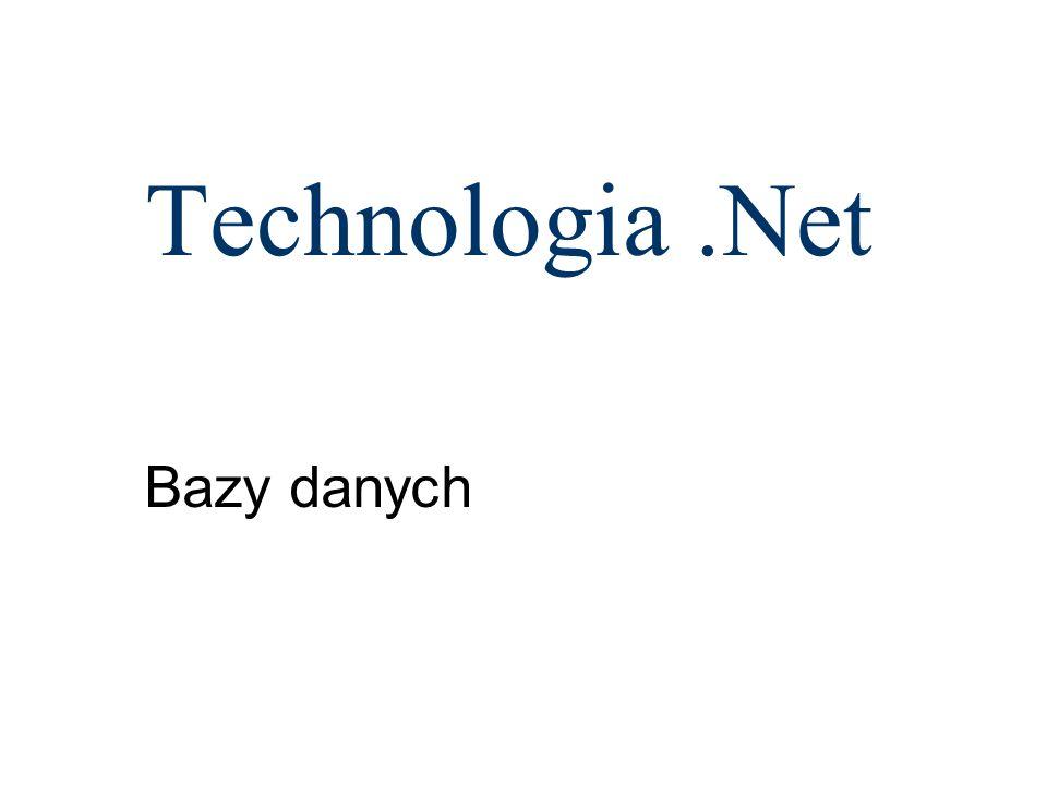 Obiekt DataView private void View_Click(object sender, EventArgs e) { DataView widok = new DataView(ds.Tables[ Studenci ], Nazwisko > B , Nazwisko , DataViewRowState.OriginalRows); foreach (DataRowView _w in widok) { Student.Text += _w[ Nazwisko ].ToString() + \r + \n ; }