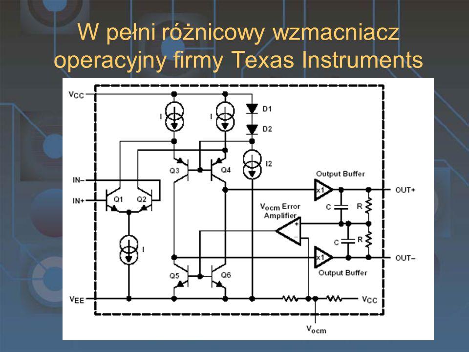 W pełni różnicowy wzmacniacz operacyjny firmy Texas Instruments