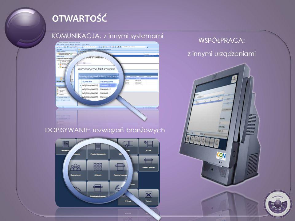 WSPÓŁPRACA: z innymi urządzeniami KOMUNIKACJA: z innymi systemami DOPISYWANIE: rozwiązań branżowych