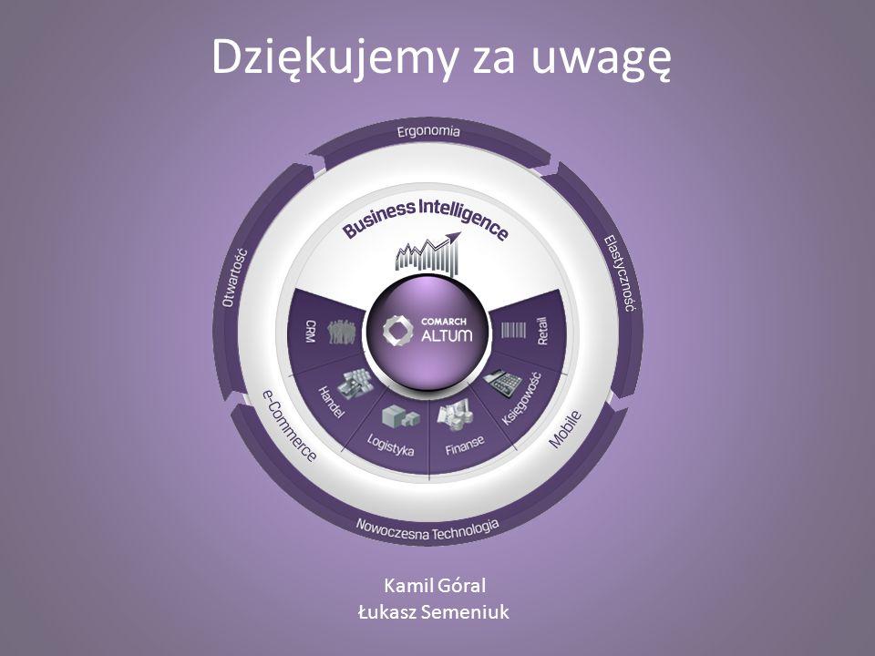 Dziękujemy za uwagę Kamil Góral Łukasz Semeniuk