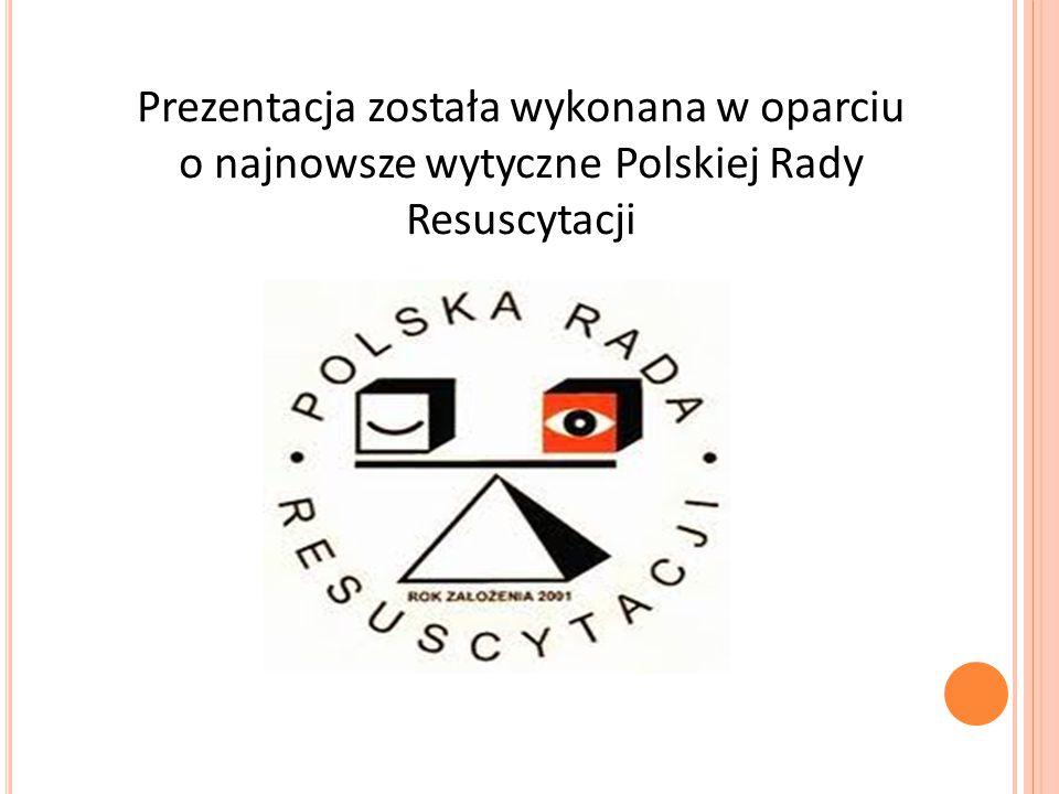 Prezentacja została wykonana w oparciu o najnowsze wytyczne Polskiej Rady Resuscytacji