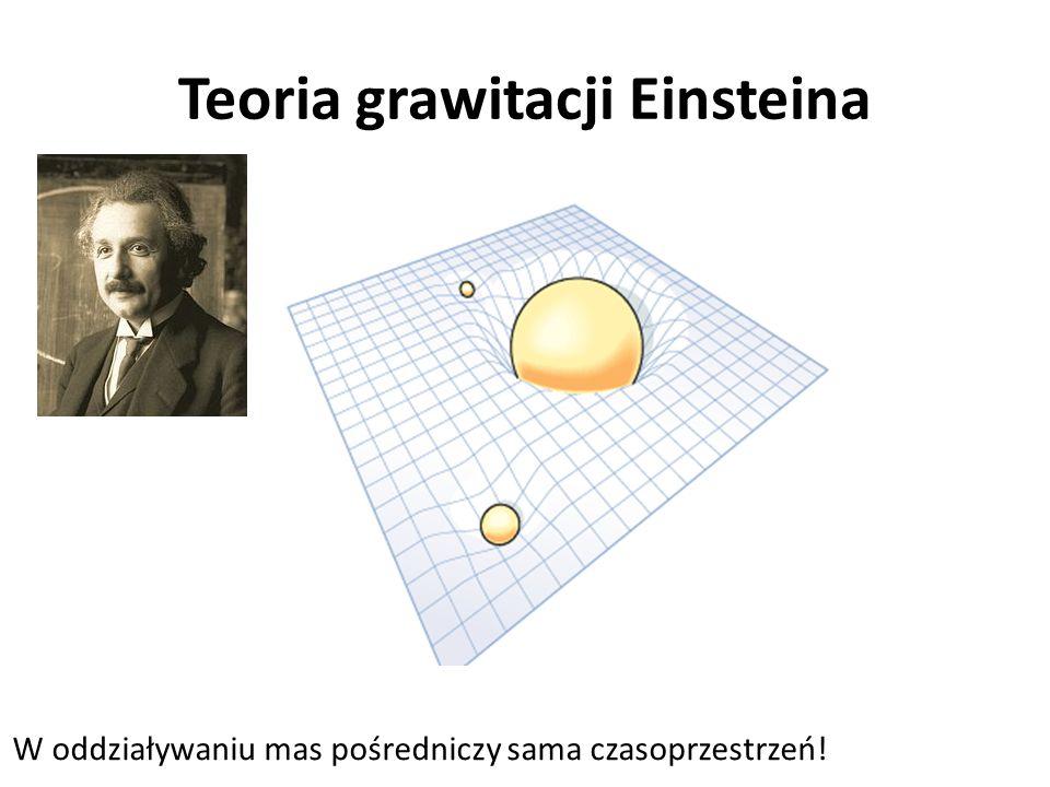 Teoria grawitacji Einsteina W oddziaływaniu mas pośredniczy sama czasoprzestrzeń!