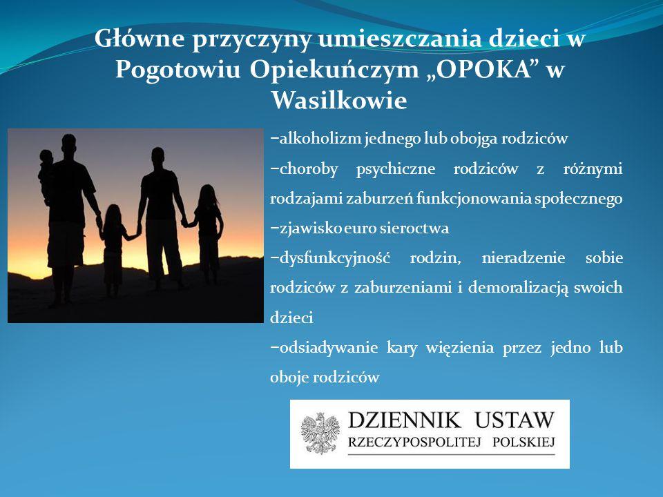 − alkoholizm jednego lub obojga rodziców − choroby psychiczne rodziców z różnymi rodzajami zaburzeń funkcjonowania społecznego − zjawisko euro sieroct