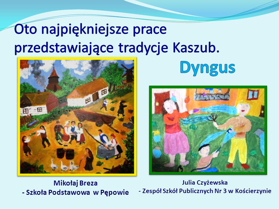 Mikołaj Breza - Szkoła Podstawowa w Pępowie Julia Czyżewska - Zespół Szkół Publicznych Nr 3 w Kościerzynie
