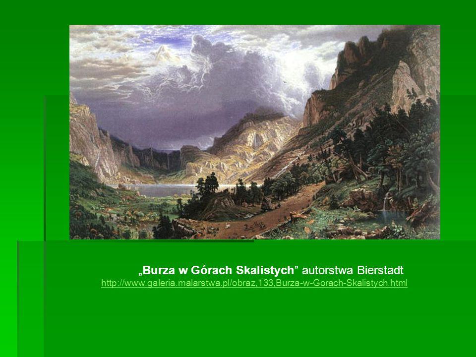 """""""Burza w Górach Skalistych"""" autorstwa Bierstadt http://www.galeria.malarstwa.pl/obraz,133,Burza-w-Gorach-Skalistych.html http://www.galeria.malarstwa."""
