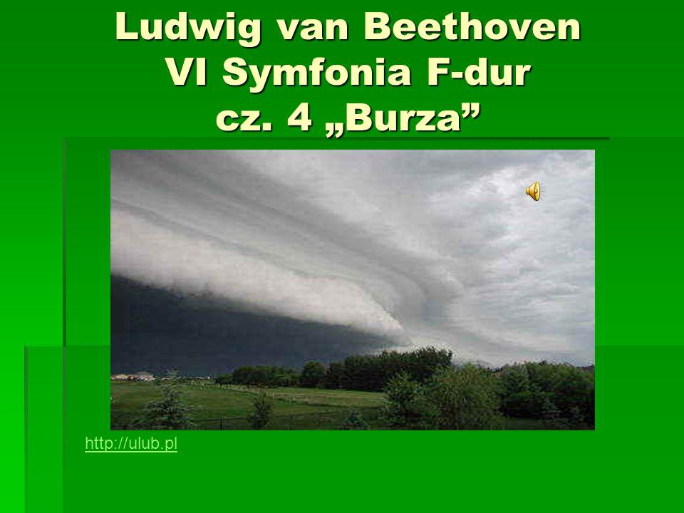 """Ludwig van Beethoven VI Symfonia F-dur cz. 4 """"Burza"""" http://ulub.pl"""