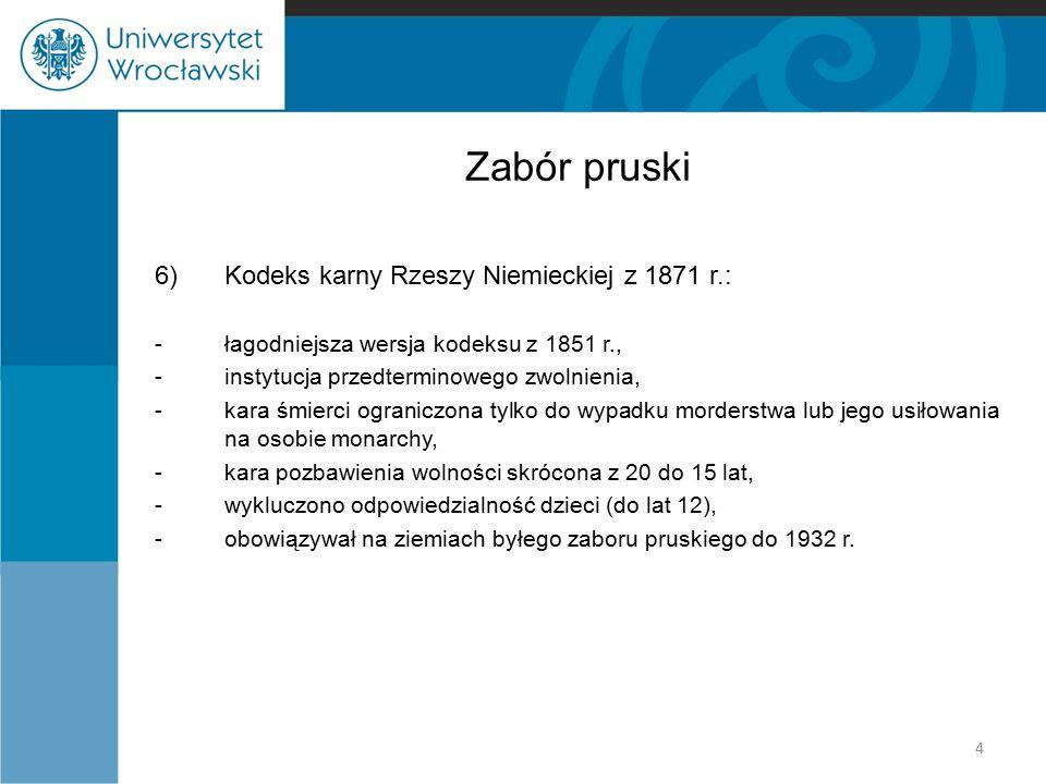 Królestwo Polskie 3)Kodeks karny z 1903 r.