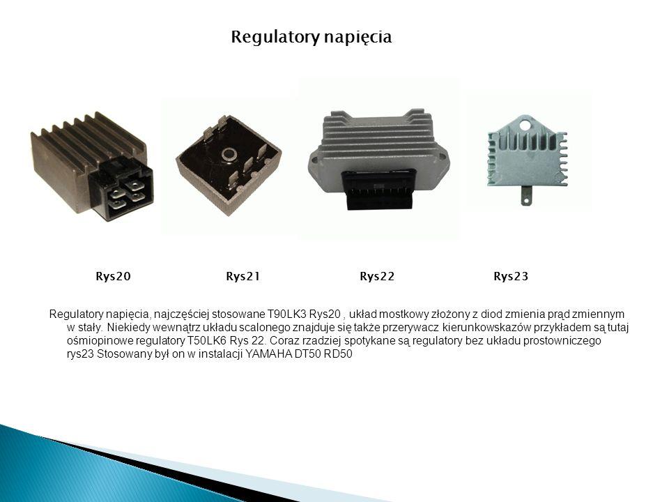 Regulatory napięcia, najczęściej stosowane T90LK3 Rys20, układ mostkowy złożony z diod zmienia prąd zmiennym w stały. Niekiedy wewnątrz układu scalone