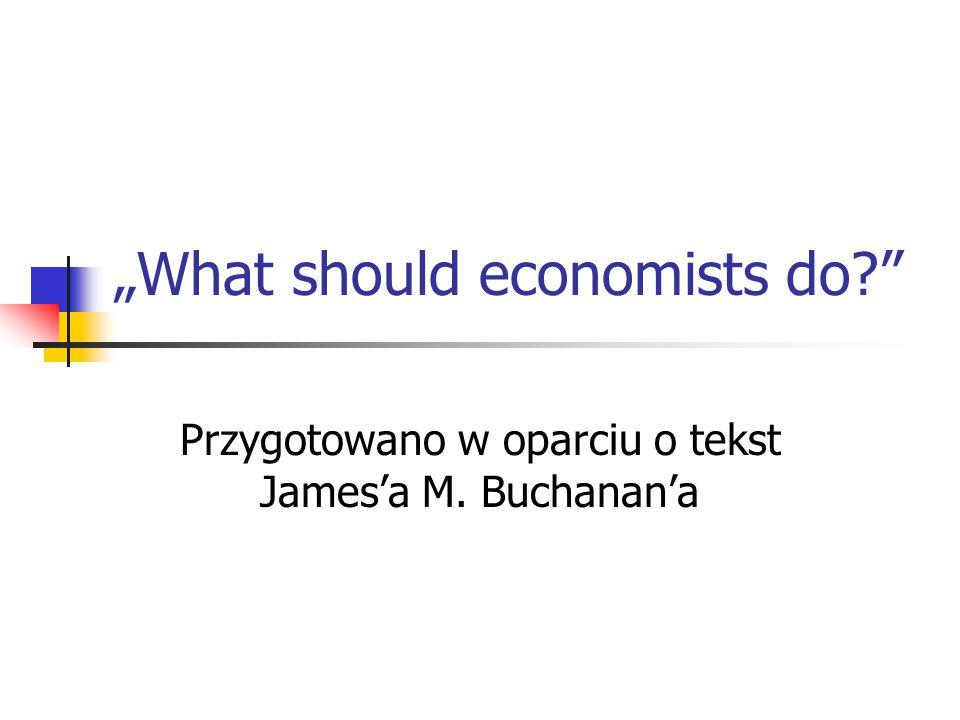 Kto to jest Buchanan.Laureat Nagrody Nobla w dziedzinie ekonomii w 1986 r.