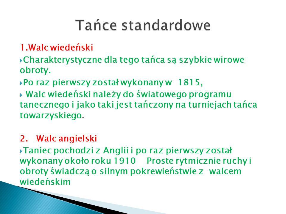 3.Quickstep Jest najszybszym tańcem standardowym (od 2 do 8 kroków w takcie, średnio 4).