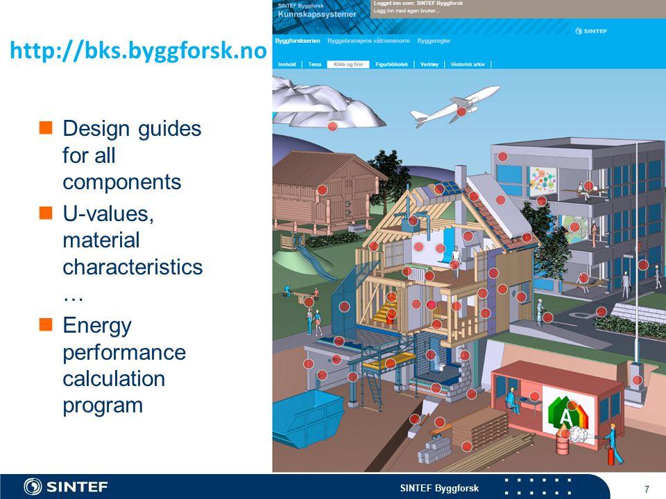 SINTEF Byggforsk 8 Byggforskserien (Seria budowlana) po polsku Seria budowlana (Byggforskserien) stala sie, przez okres 50-ciu lat istnienia, baza naukowa budownictwa norweskiego.