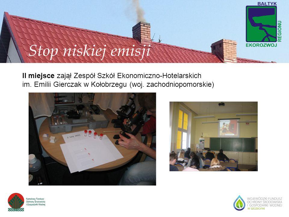 II miejsce zajął Zespół Szkół Ekonomiczno-Hotelarskich im. Emilii Gierczak w Kołobrzegu (woj. zachodniopomorskie)