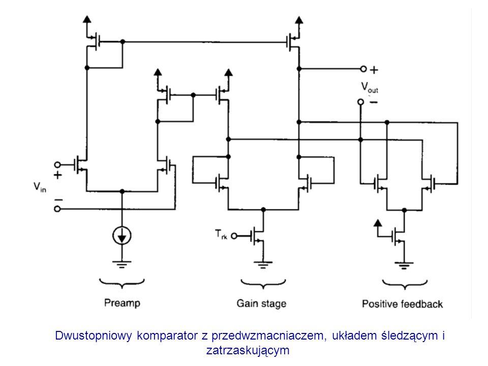 Dwustopniowy komparator z przedwzmacniaczem, układem śledzącym i zatrzaskującym