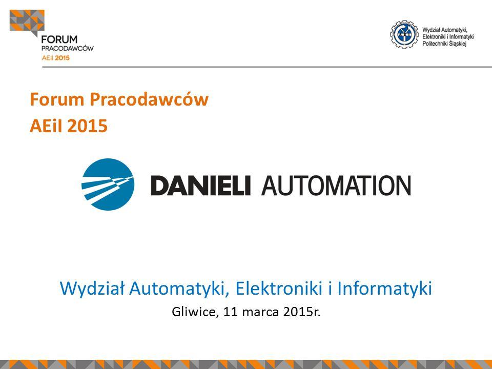 Forum Pracodawców AEiI 2015 Miejsce na logo firmy Wydział Automatyki, Elektroniki i Informatyki Gliwice, 11 marca 2015r.