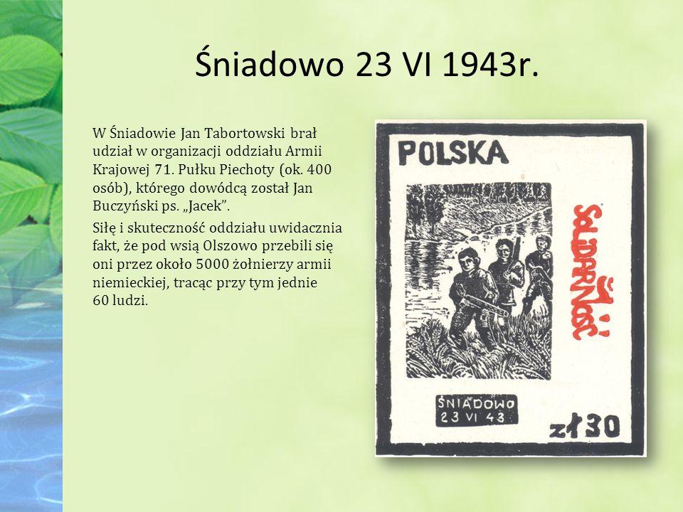 Śniadowo 23 VI 1943r.