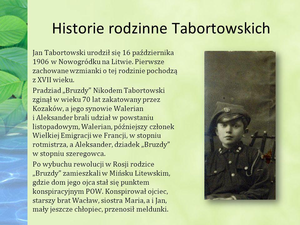 Historie rodzinne Tabortowskich Jan Tabortowski urodził się 16 października 1906 w Nowogródku na Litwie.