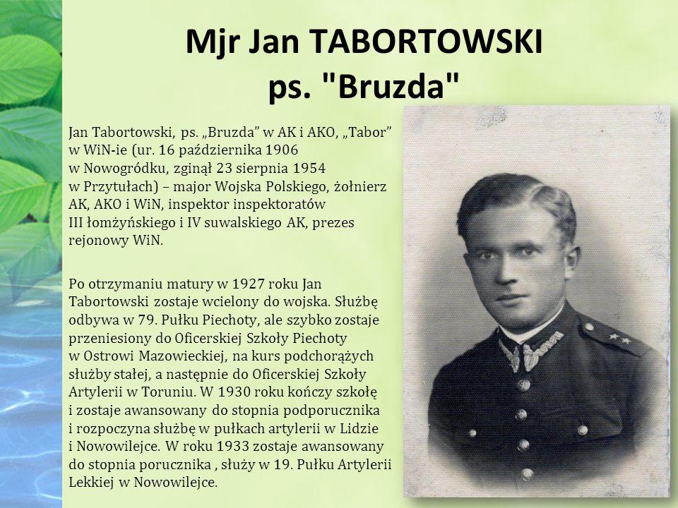 Mjr Jan TABORTOWSKI ps. Bruzda Jan Tabortowski, ps.
